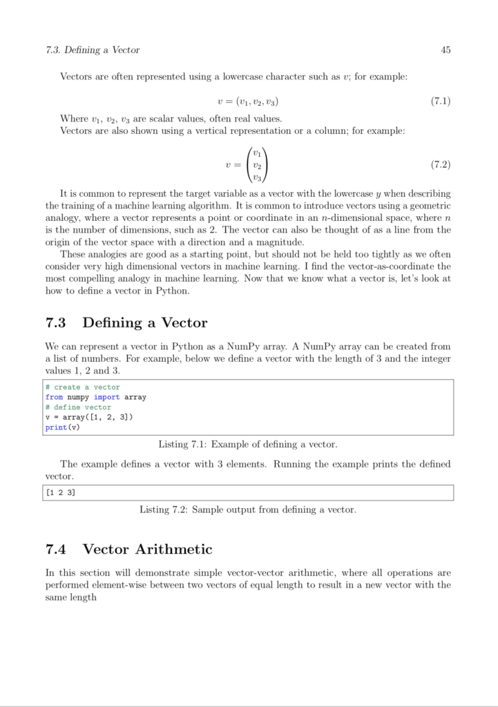 Basics of Linear Algebra for Machine Learning Page 1